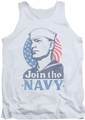 Navy tank top Join Now mens white