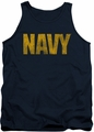 Navy tank top Logo mens navy
