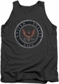 Navy tank top Rough Emblem mens charcoal