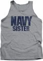 Navy tank top Sister mens athletic heather
