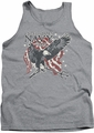 Navy tank top Trident mens athletic heather