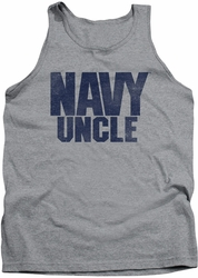 Navy tank top Uncle mens athletic heather