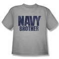 Navy youth teen t-shirt Brother athletic heather