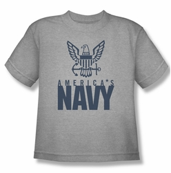 Navy youth teen t-shirt Eagle Logo athletic heather