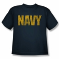 Navy youth teen t-shirt Logo navy