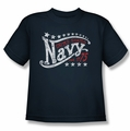Navy youth teen t-shirt Stars navy