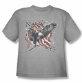 Navy youth teen t-shirt Trident athletic heather