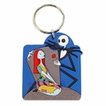 NBX Jack Skellington and Sally Rose laser cut Key Chain