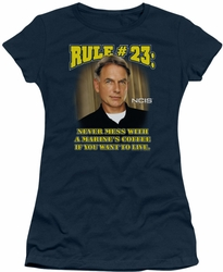 NCIS juniors t-shirt Rule 23 navy