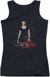 NCIS juniors tank top Goth Crime Fighter black