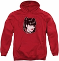 NCIS pull-over hoodie Abby Heart adult red