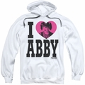 NCIS pull-over hoodie I Heart Abby adult white