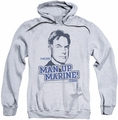 NCIS pull-over hoodie Man Up adult athletic heather