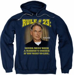 NCIS pull-over hoodie Rule 23 adult navy