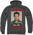 NCIS pull-over hoodie Wanted adult charcoal