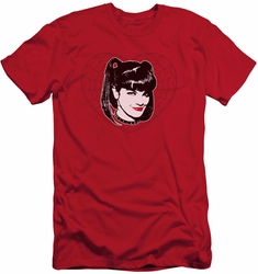 NCIS slim-fit t-shirt Abby Heart mens red