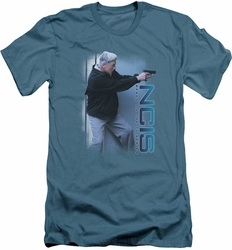 NCIS slim-fit t-shirt Drop It mens slate