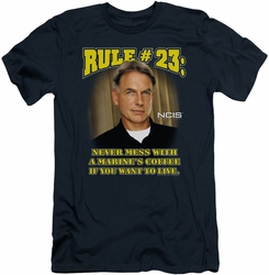 NCIS slim-fit t-shirt Rule 23 mens navy