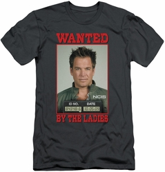 NCIS slim-fit t-shirt Wanted mens charcoal