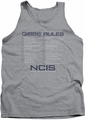 NCIS tank top Gibbs Rules mens athletic heather