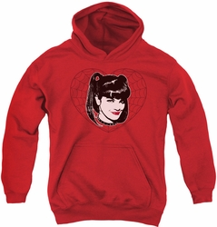 NCIS youth teen hoodie Abby Heart red