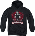 NCIS youth teen hoodie Goth Crime Fighter black