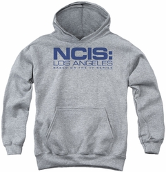 NCIS youth teen hoodie Logo athletic heather