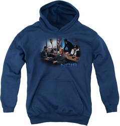 NCIS youth teen hoodie Original Cast navy