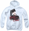 NCIS youth teen hoodie Strange Is Not A Crime white