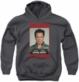 NCIS youth teen hoodie Wanted charcoal