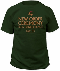 New Order in a lonely place fitted jersey tee forest green pre-order
