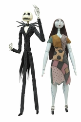 Nightmare Before Christmas Jack & Sally Coffin Doll Set