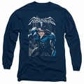 Nightwing adult long-sleeved shirt A Legacy navy