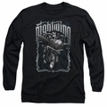 Nightwing adult long-sleeved shirt Biker black
