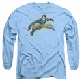 Nightwing adult long-sleeved shirt Burst carolina blue