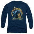 Nightwing adult long-sleeved shirt Moon navy