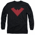 Nightwing adult long-sleeved shirt Nightwing 52 Costume black