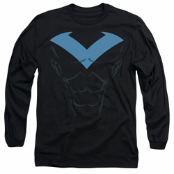 Nightwing adult long-sleeved shirt Nightwing Costume black