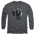 Nightwing adult long-sleeved shirt Spotlight charcoal