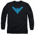 Nightwing adult long-sleeved shirt Symbol Logo black