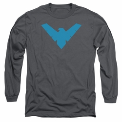 Nightwing adult long-sleeved shirt Symbol Logo charcoal