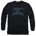 Nightwing adult long-sleeved shirt Wing Of The Night black