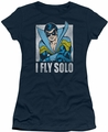 Nightwing juniors t-shirt Fly Solo navy