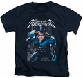 Nightwing kids t-shirt A Legacy navy