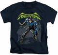 Nightwing kids t-shirt Character navy