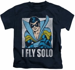 Nightwing kids t-shirt Fly Solo navy