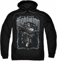 Nightwing pull-over hoodie Biker adult black