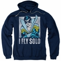 Nightwing pull-over hoodie Fly Solo adult navy