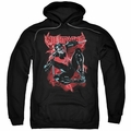 Nightwing pull-over hoodie Lightwing adult black
