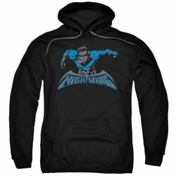 Nightwing pull-over hoodie Wing Of The Night adult black